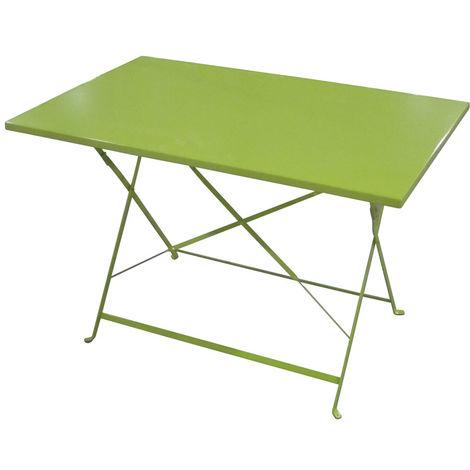 Table de jardin Hespéride rectangle Camargue 110 x 70 cm Vert