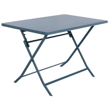 Table de jardin Hespéride rectangle Greensboro 110 x 70 cm Bleu orage -  Hespéride