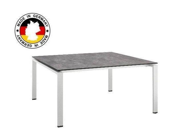 Table De Jardin Hpl Beton Brosse Couleur Argent Gris