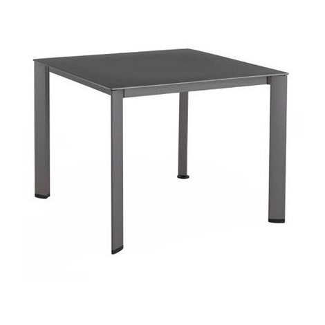 Table de jardin LOFT aluminium et résine - Couleur: Anthracite ...