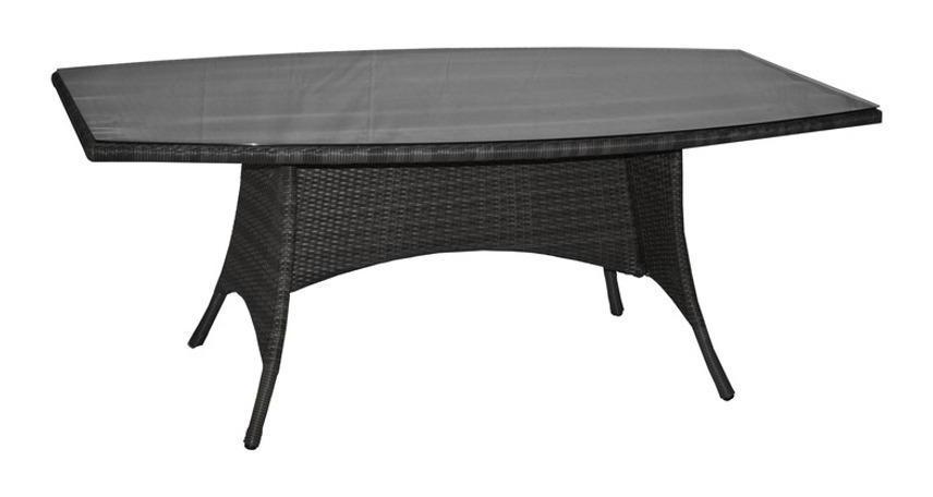 Table de jardin LOTUS en aluminium et résine tressée coloris ice ...