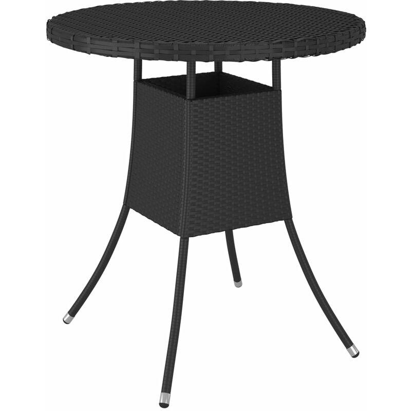 Table de jardin Noir 70x70x73 cm Résine tressée