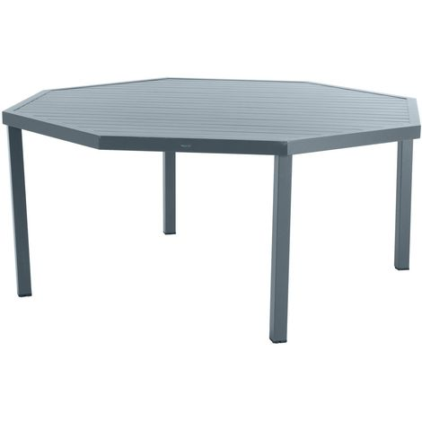 HYBA Ensemble Table CANBERRA Octogonale + 8 fauteuils