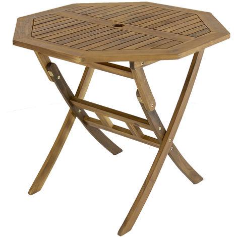 Table de jardin octogonale pliable - bois dur certifié FSC ...