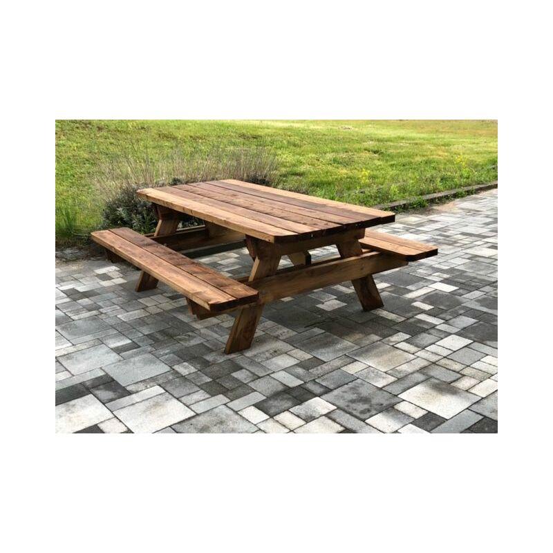 Jardinatoire - Table de jardin & pique-nique - 3m - 8-10 personnes - Section Renforcée - idéal pour dejeuner en exterieur