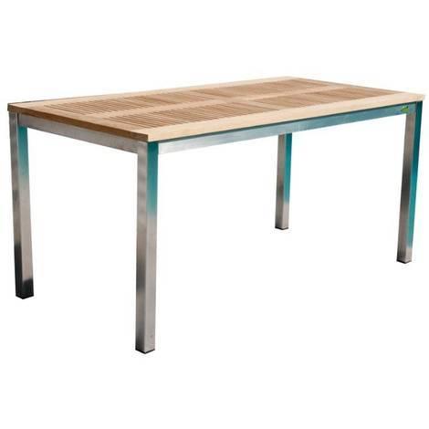 Table de jardin Pircher Urban 160x90 cm en acier et bois de ...