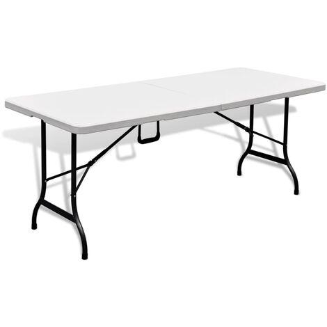 41567 Jardin Table Blanche Hdpe Pliable Cm En De 180 pGjSUqMLzV