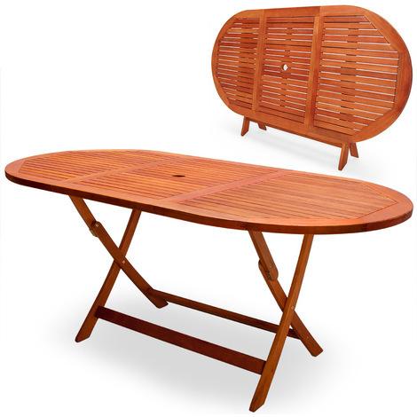 Table de jardin pliable Alabama en acacia pré-huilé certifié FSC ...