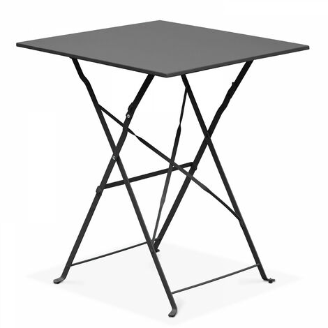 Table de jardin pliante bistrot - Gris - 103552