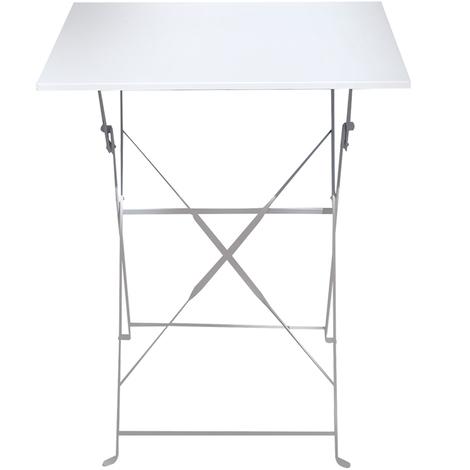 Table De Jardin Pliante Coloris Blanc Dim 110 X 70 X 71 Cm Pegane