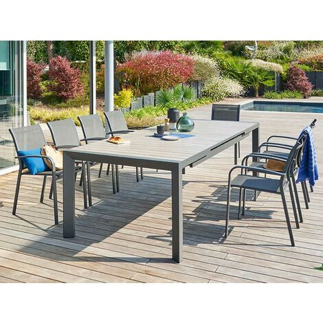 "main image of ""Table de jardin rectangulaire aluminium Evasion 10 places - Hespéride"""