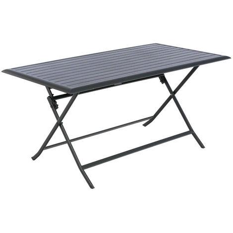 Table de jardin rectangulaire Azua 6 places Graphite