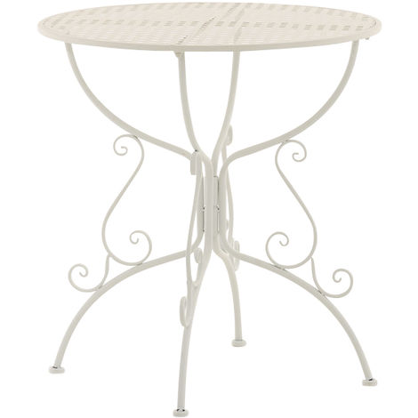 Table de bistrot 74 Cm Métal Antique-Style Table de jardin Jardin Table de Bistrot fer noir