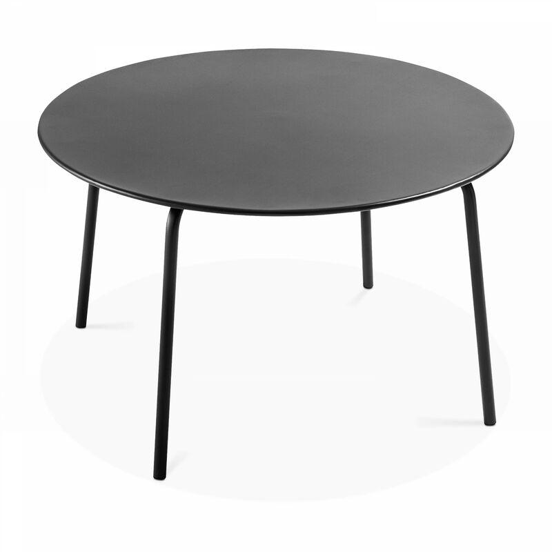 Table De Jardin Ronde En Metal Palavas Palavas Gris 104025