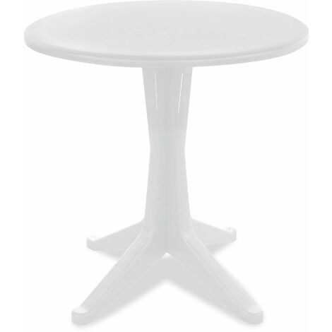 Table De Jardin Ronde En Plastique Blanc 104377