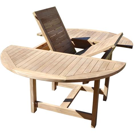 Salon De Jardin Table Ronde Incroyable Table De Jardin Bois ...