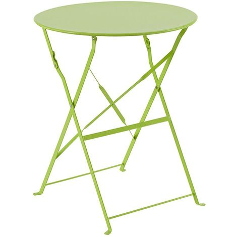Table de jardin ronde pliante Camargue - 2 Places - Vert - Vert