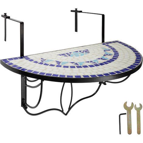 "main image of ""Table de balcon rabattable - table de jardin, table de terrasse, table à balustrade"""