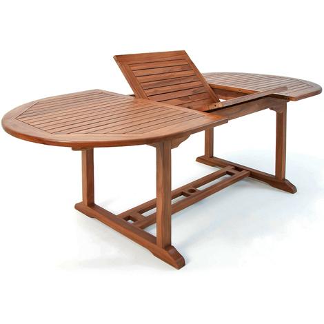 Table de jardin Vanamo Bois d\'eucalyptus 200 x 100 x 74 cm Extérieur ...