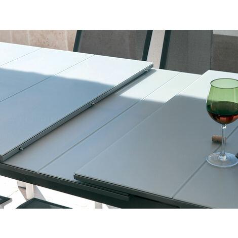 Table de jardin Védra extensible en aluminium pour 10/12 personnes
