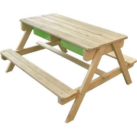 Table De Jeux Pique Nique En Bois Enfant Dual C052 002 00