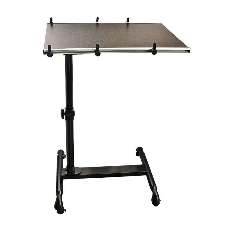 Table de lit avec plateau inclinable pour ordinateur - Table de travail reglable en hauteur ...