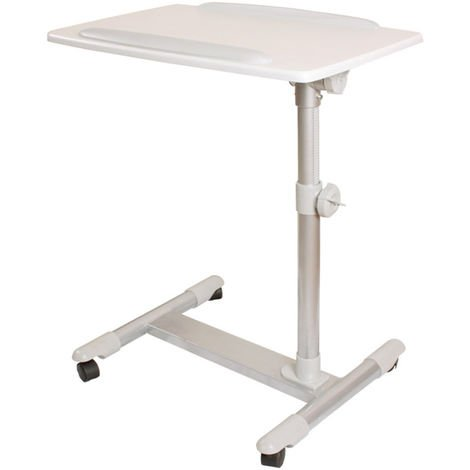 Table de lit pour ordinateur portable, iPad, lecture avec plateau inclinable à hauteur assistée Tables de chevet FBT07N2-W SoBuy®