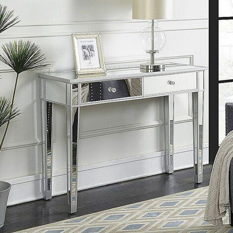 """main image of """"Table de maquillage pour femmes avec 2 tiroirs"""""""