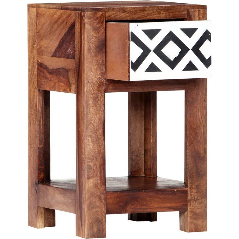 Table de nuit chevet commode armoire meuble chambre 30 x 30 x 50 cm bois  massif de sesham