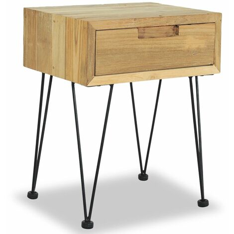 Table de nuit chevet commode armoire meuble chambre 40 x 30 x 50 cm teck