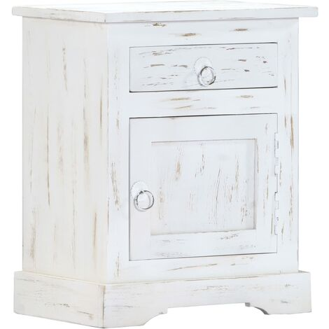 Table de nuit chevet commode armoire meuble chambre blanc 40 ...
