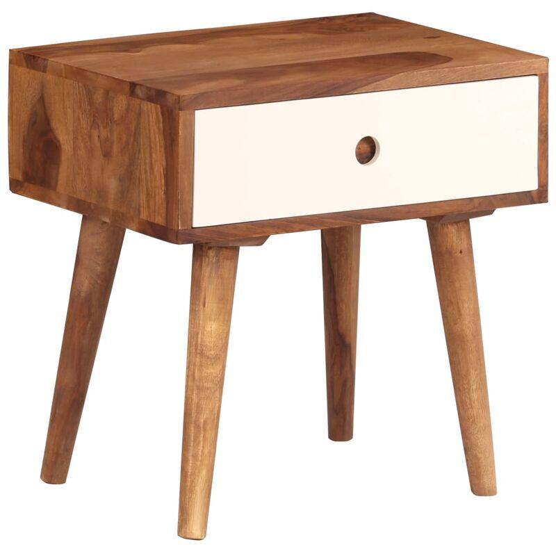 Table de nuit chevet commode armoire meuble chambre bois massif de sesham  45 x 30 x 45 cm