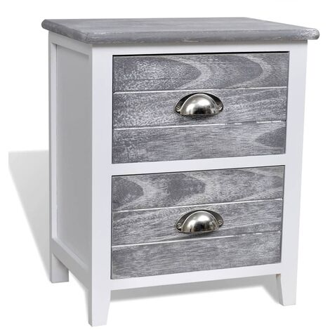 Table de nuit chevet commode armoire meuble chambre gris et ...