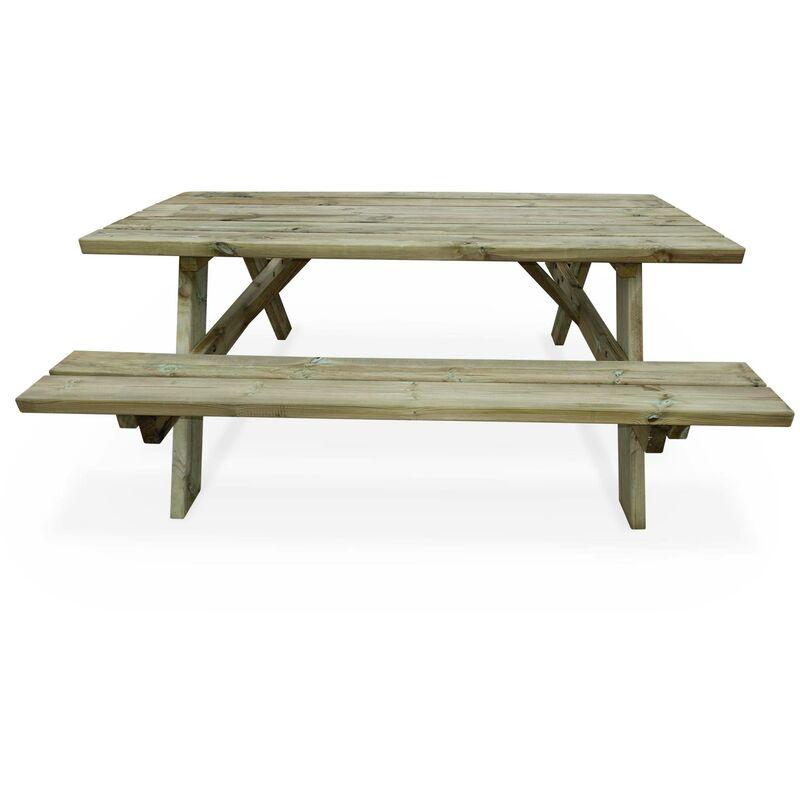 180 De Jardin Nique Cm Fsc Panchina Robuste Rabattables En Sylvestre Pique Avec Places Bancs Bois6 Table Pin 9HE2DWI