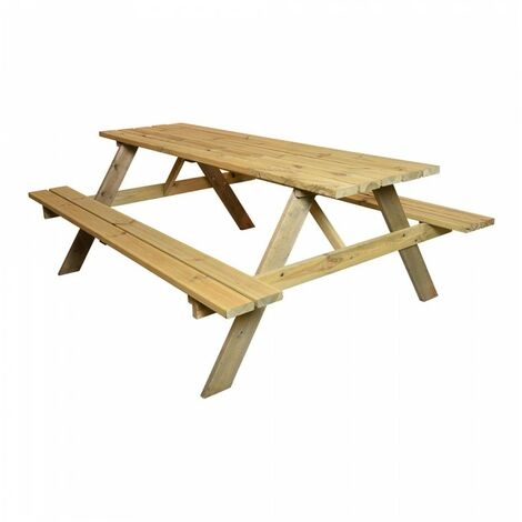 Table de pique-nique en bois 200 x 128 cms - bois fsc.