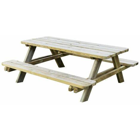 Table de pique-nique en bois autoclave CLASSIC