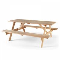Table de pique nique en bois - Marron
