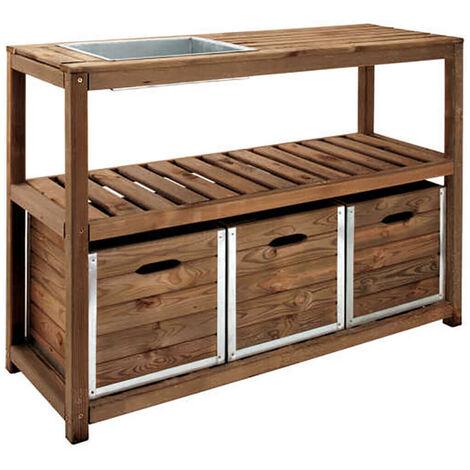 Table de préparation CHOKO | 129 x 45 x 90 cm