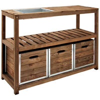 Table de préparation CHOKO   129 x 45 x 90 cm