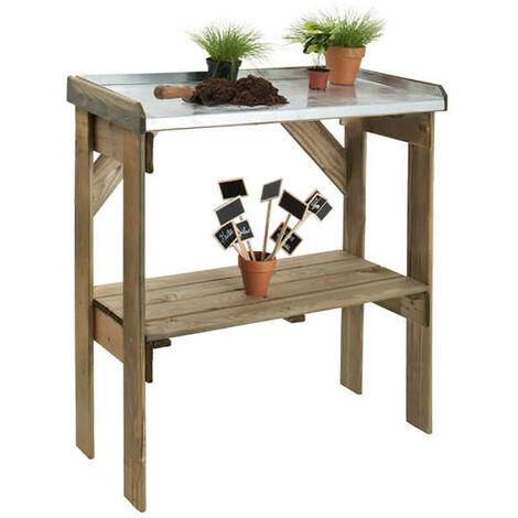 Table de préparation en zinc | 83 x 40 cm
