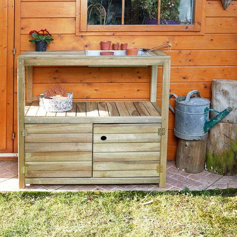 Table de préparation Œillet en bois