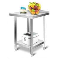Table de Préparation Vogue en Inox, Table De Travail Cuisine - 61*61*90cm