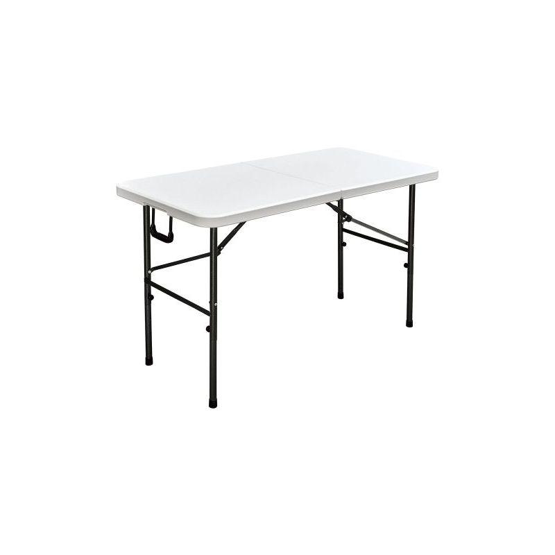 Interouge - Table de réception pliante 122cm Blanc plateau pliable - 4 places