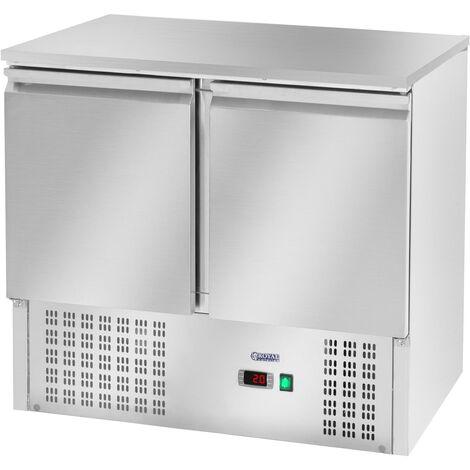 Table De Refroidissement Pour Pizza Saladette Réfrigérateur Réfrigéré Pièce 240L