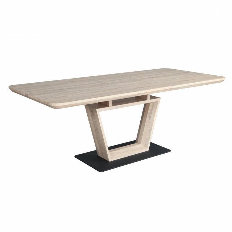 Table de repas extensible 160 à 200 cm rectangulaire - LUCCIA - Bois