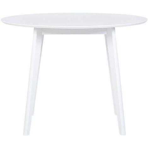Table de salle à manger blanche ø 100 cm ROXBY