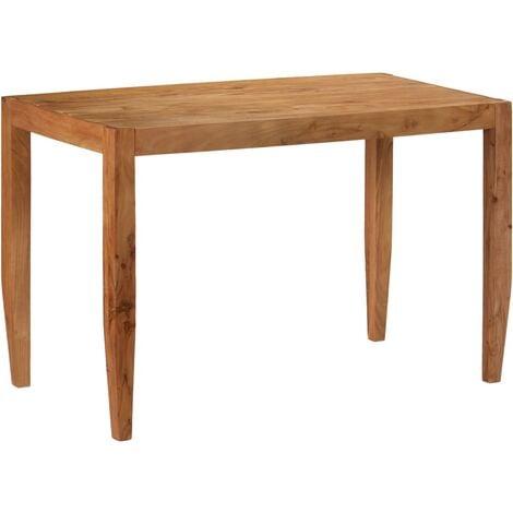 Table de salle à manger Bois d'acacia massif 120x60x78cm Marron