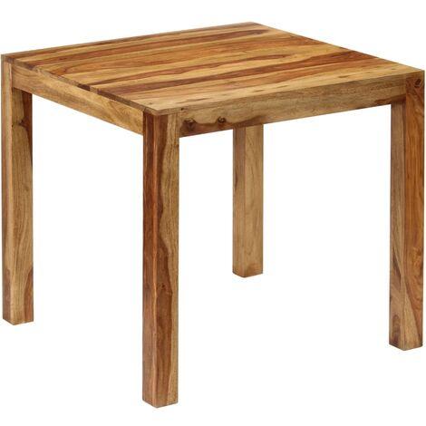Table de salle manger bois de sesham massif 82 x 80 x 76 - Table de salle a manger en bois massif ...