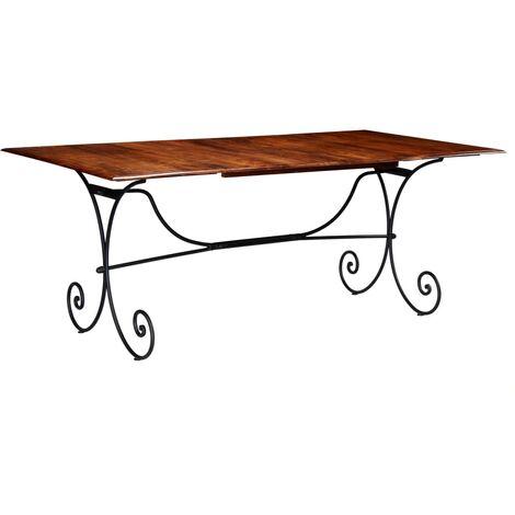 Table de salle à manger Bois et finition en Sesham 200x100x76cm