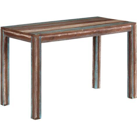 Table de salle à manger Bois massif Vintage 118 x 60 x 76 cm